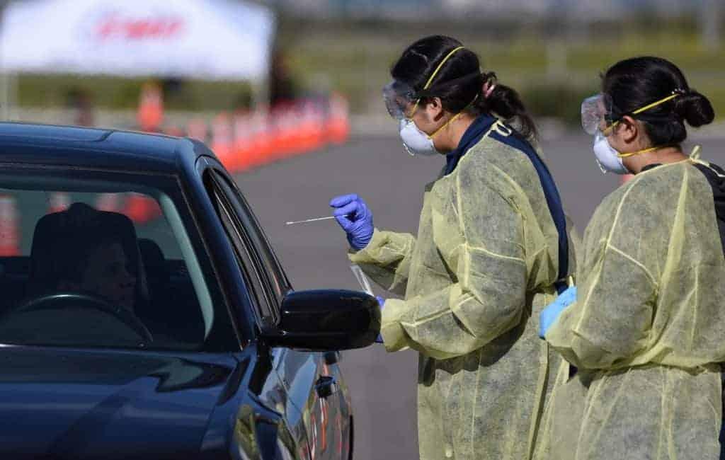 California Coronavirus Testing in Vehicles